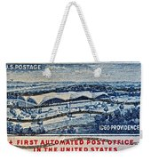 1960 First Automated Post Office Stamp Providence Rhode Island Weekender Tote Bag