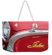 1960 Ford Galaxie Starliner Hood Ornament - Emblem Weekender Tote Bag