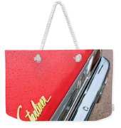 1960 Ford Galaxie Starliner Taillight Emblem Weekender Tote Bag
