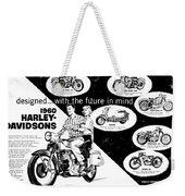 1960 Harley Davidson  Weekender Tote Bag