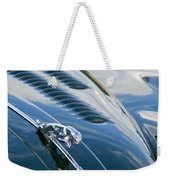 1960 Jaguar Xk 150s Fhc Hood Ornament 3 Weekender Tote Bag