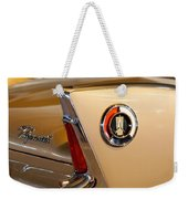 1960 Plymouth Fury Convertible Taillight And Emblem Weekender Tote Bag