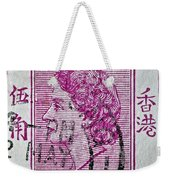 1960 Queen Elizabeth Hong Kong Stamp Weekender Tote Bag