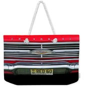 1960 Red Chevy Weekender Tote Bag