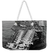 1960s Aerial Of Uss Saratoga Aircraft Weekender Tote Bag