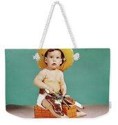 1960s Baby Wearing Cowboy Hat Weekender Tote Bag
