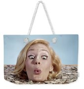 1960s Blond Woman Funny Facial Weekender Tote Bag