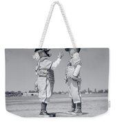 1960s Boy Little Leaguer Pitcher Weekender Tote Bag