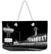 1960s Night Scene Of The Stardust Weekender Tote Bag