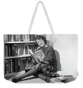 1960s Smiling Young Woman Teen Sitting Weekender Tote Bag