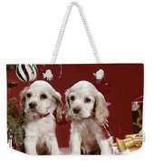 1960s Two Cocker Spaniel Puppies Weekender Tote Bag