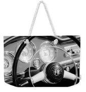 1961 Alfa Romeo Giulietta Spider Steering Wheel Emblem -1239bw Weekender Tote Bag