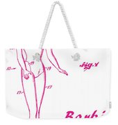 1961 Barbie Doll Patent Art 3 Weekender Tote Bag