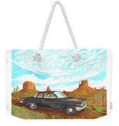 1961 Chevrolet Biscayne 409 In Monument Valley Weekender Tote Bag