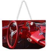 1961 Chevrolet Corvette Steering Wheel Weekender Tote Bag