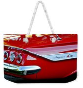 1961 Chevrolet Impala Taillight Emblem Weekender Tote Bag