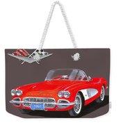 1961 Corvette Convertible Weekender Tote Bag