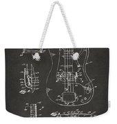 1961 Fender Guitar Patent Artwork - Gray Weekender Tote Bag