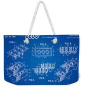 1961 Lego Building Blocks Patent Art 3 Weekender Tote Bag