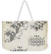 1961 Lego Patent Weekender Tote Bag