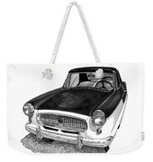 1961 Nash Metro In Black White Weekender Tote Bag