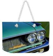1961 Pontiac Bonneville Grille Emblem Weekender Tote Bag