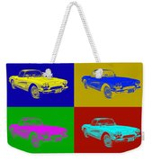 1962 Chevrolet Corvette Convertible Pop Art Weekender Tote Bag