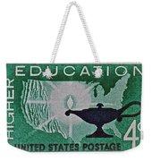 1962 Higher Education Stamp Weekender Tote Bag