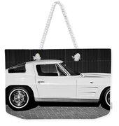 1963 Chevrolet Corvette Split Window -575bw Weekender Tote Bag