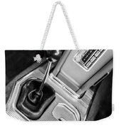 1963 Chevrolet Corvette Split Window Dash -155bw Weekender Tote Bag