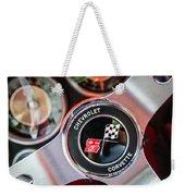 1963 Chevrolet Corvette Split Window Steering Wheel Emblem -170c Weekender Tote Bag