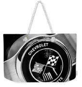 1963 Chevrolet Corvette Split Window Steering Wheel Emblem -309bw Weekender Tote Bag