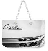 1963 Chevrolet Corvette Split Window Taillight Emblem -458bw Weekender Tote Bag
