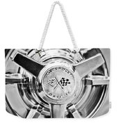 1963 Chevrolet Corvette Split Window Wheel -111bw Weekender Tote Bag