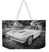 1963 Chevy Corvette Coupe Painted Bw    Weekender Tote Bag