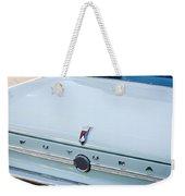 1963 Ford Falcon Futura Convertible  Rear Emblem Weekender Tote Bag by Jill Reger