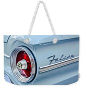 1963 Ford Falcon Futura Convertible Taillight Emblem Weekender Tote Bag by Jill Reger