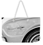 1963 Ford Falcon Sprint Side Emblem Weekender Tote Bag by Jill Reger