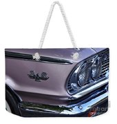 1963 Ford Galaxie Front End And Badge Weekender Tote Bag