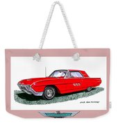 1963 Ford Thunderbird Weekender Tote Bag by Jack Pumphrey
