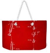 1963 Space Capsule Patent Red Weekender Tote Bag