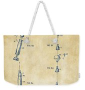 1963 Space Capsule Patent Vintage Weekender Tote Bag