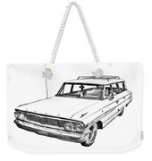 1964 Ford Galaxy Country Stationwagon Illustration Weekender Tote Bag