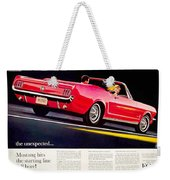 1964 - Ford Mustang Convertible - Advertisement - Color Weekender Tote Bag