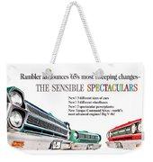1965 - Rambler - Ambassador - American - Automobile Advertisement - Color Weekender Tote Bag