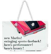 1965 - Rambler Marlin - Automobile Advertisement - Color Weekender Tote Bag