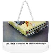 1965 Chevelle Convertible Weekender Tote Bag