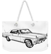 1965 Chevy Impala 327 Convertible Illuistration Weekender Tote Bag