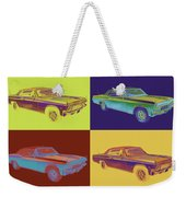 1965 Chevy Impala 327 Convertible Pop Art Weekender Tote Bag