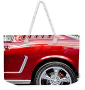 1965 Ford Mustang Really Red Weekender Tote Bag